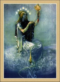 William Russell Flint      Moirai  Often known in English as The Fates — were the white-robed incarnations of destiny Their number became fixed at three: Clotho (spinner), Lachesis (alloter) and Atropos (unturnable).