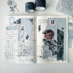 so creative and beautiful ! Bullet Journal Notebook, Bullet Journal Ideas Pages, My Journal, Bullet Journal Inspiration, Art Journal Pages, Art Journals, Journal Prompts, Bullet Art, Kunstjournal Inspiration