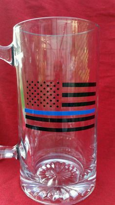 A personal favorite from my Etsy shop https://www.etsy.com/listing/475098943/thin-blue-line-beer-mug-thin-blue-line