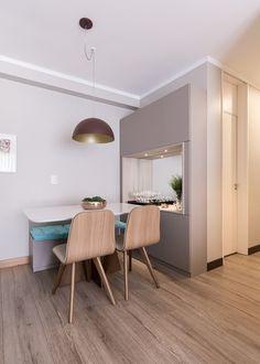 Apartamento Sob Medida || Ambientta Arquitetura 2 Storey House Design, Home Room Design, New Room, House Rooms, Sweet Home, Bedroom Decor, Interior Design, Table, Furniture
