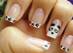 Animal Inspired French Manicure Idea