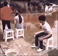 Wer anderen eine Grube gräbt... | Lustige Bilder, Sprüche, Witze, echt lustig