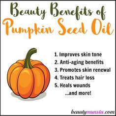 Natural Skin Remedies Discover 9 beauty benefits of pumpkin seed oil for hair, skin and nails! - Discover 9 beauty benefits of pumpkin seed oil for hair, skin and nails! Calendula Benefits, Lemon Benefits, Coconut Health Benefits, Oil Benefits, Natural Cures, Natural Skin Care, Natural Beauty, Natural Face, Organic Beauty