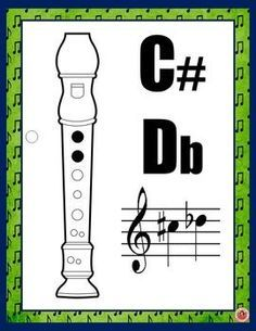 Music Posters Recorder Fingering Charts by MusicTeacherResources Music Lessons For Kids, Music For Kids, Recorder Fingering Chart, Music Bulletin Boards, Recorder Music, Recorder Notes, Music Worksheets, Teaching Music, Learning Piano