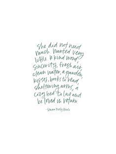 Starra Neely Blade quote lettered by Margot Groner / Margot + Co