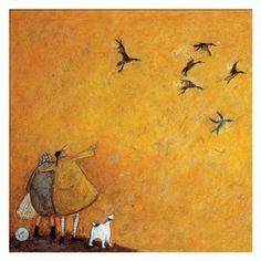 ACHICA | Sam Toft - The Mcwerters Maiden Voyage, Box Frame Canvas, 30 x 30 cm