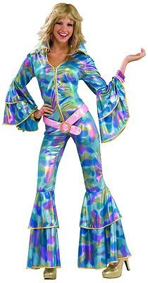 Disco Bell Bottoms Costume Womens Adult Dance 70'S Dance Pant Suit Abba XS S | eBay