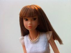 Pearl necklace for Blythe Momoko Barbie Ever by RainbowDaisies on Etsy