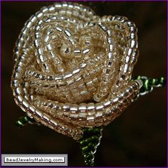 Image detail for -seed beads using the french flower beading technique this picture is a ...