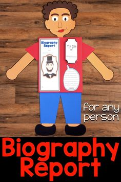 Research Report for Any Person This Biography Report that can be used for any historical person. It is great for a social studies biography unit or reading informational writing and research unit. It includes five different report options, lap book, in Character Traits Graphic Organizer, Graphic Organizers, Biography Project, Genre Posters, Genre Study, Informational Writing, Teacher Notes, Teaching Social Studies, Educational Activities