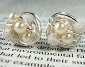 Wire-wrapped studs from Etsy