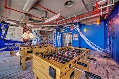 Oficinas Google en Tel Aviv. Área de Juegos.
