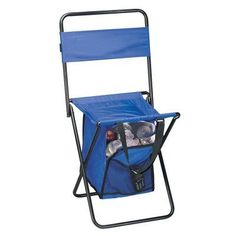 Preferred Nation Folding Chair with Cooler - 7369_ BLUE, Durable