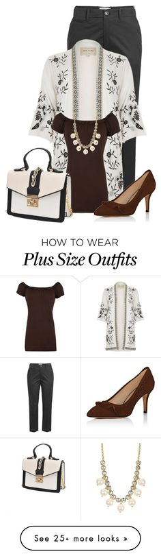 """Untitled #24222"" by nanette-253 on Polyvore featuring Closed, River Island, WearAll, Kate Spade and plus size clothing"