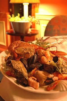 Seafood platter at Aherne's in Youghal – county Cork, Ireland