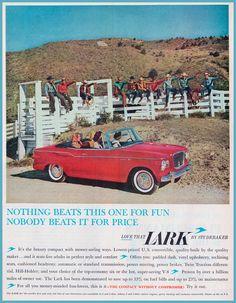 1960 Studebaker Lark Print Ad - available in six or eight cylinders -