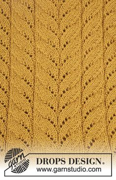 Ravelry: Cornfield pattern by DROPS design Lace Knitting Patterns, Knitting Stiches, Knitting Charts, Free Knitting, Baby Knitting, Stitch Patterns, Drops Design, New Stitch A Day, Magazine Drops