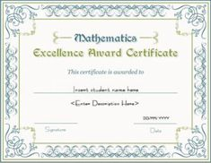 Sports certificate template for ms word download at http mathematics excellence award certificate template for ms word download at httpcertificatesinn yadclub Image collections