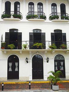 Fachada de un edificio, Panamá Viejo, Ciudad de Panamá, Panamá