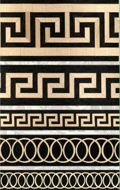 Resultado de imagen para grecas Border Pattern, Pattern Art, Pattern Design, Carving Designs, Stencil Designs, Floor Design, Ceiling Design, Motifs Aztèques, Greek Symbol