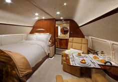 Luxury bedroom for one inside a private jet : CozyPlacesYou can find Private jets and more on our website.Luxury bedroom for one inside a private jet : CozyPlaces Luxury Jets, Luxury Private Jets, Private Plane, Private Jet Interior, Interior Modern, Modern Bedroom Design, Contemporary Bedroom, Bedroom Designs, Boeing Business Jet
