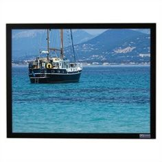 "Retro-Vu Vu-Easy Fixed Frame Screen - 144"" diagonal Video Format by Vutec. $1120.99. 01-EZ086-115-RV Features: -Easy to assemble frame.-Standard VTS (Vutec Tensioning System).-Installer Friendly.-Gain: 1-2.5.-Surface: Rigid. Includes: -This rigid rear view projection screen includes a high performing diffusion coating that can be specified for gain and contrast ranging from 1.0 to 2.5.. Color/Finish: -Extruded 2 1/2'' black velvet finished frame."