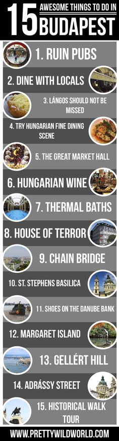 Planning to go on a holiday to #Budapest soon? Here's a list of 15 awesome things to do in Budapest you should NOT miss! Check it out or pin it to read later! via @topupyourtrip