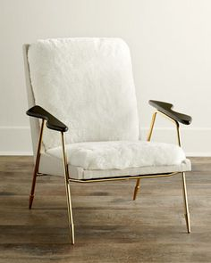 "Living Room: Ingmar Chair by Jonathan Adler at Horchow. - 27""W x 27""D x 35""T. - $2,559.00"