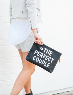 Gray on gray + conversation bags = The perfect couple. Worn by @thecourtneykerr