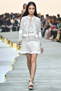 JACKET AND DRESS Roberto Cavalli Spring 2015 Ready-to-Wear - Collection - Gallery - Look 1 - Style.com