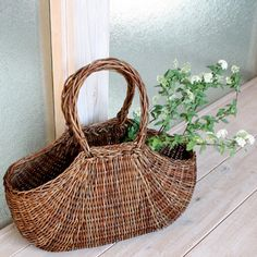 [Envelope Online Shop] akebia basket bag KOHORO.#Basket #wicker basket#flower basket
