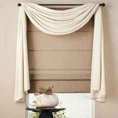 White Valance Window Scarf Ideas With Blind , Pretty Window Scarf Ideas In Home Design and Decor Category