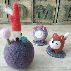 Cute Needle felted wool fox (Via @feltiriums)