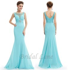 Light blue evening dresses with fishtail for matric ball / matric farewell in Cape Town - Bridal Lane ♥