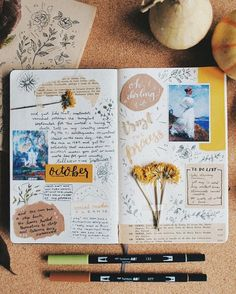 "1,224 Likes, 8 Comments - Notebook Therapy (@notebook_therapy) on Instagram: ""This October spread is so gorgeous @majoaquinoh is so talented """