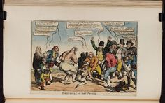 1 October 1814:Bodleian Libraries, Boxiana or - the fancy.Satire on the defeat of Napoleon, 1815. (British political cartoon)