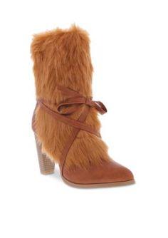 Penny Loves Kenny Women's Aper Boot - Tan Faux Fur - 13 Wide