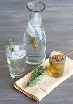 Summer Drink Makeovers With Flavor-Infused Simple Syrups [Honey-Rosemary Sparkling Water] - offbeat + inspired