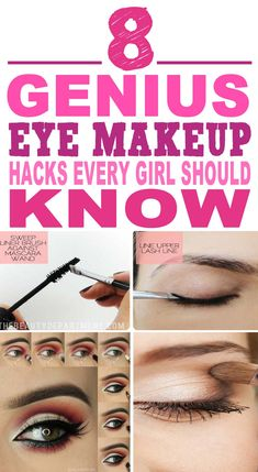 These are the most AMAZING eye makeup hacks I've ever seen!! Glad to have found these amazing eye makeup hacks and tricks. Already helped me a lot. Pinning for sure.