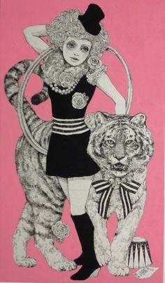 felixinclusis:    higuchiyuko:「虎と女」ヒグチユウコ画 yuko higuchi https://www.facebook.com/burnetmoth