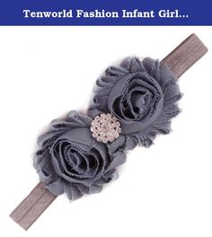 Tenworld Fashion Infant Girls Headband Flower Hair Accessories Hot (Gray). Description Color:Grey,Blue,Light Blue,Orange,Light Green,Yellow,Sky Blue,Pink,Red,Green,Khaki,Black,Hot Pink,Watermelon Red,Purple,White Material:Cloth Size:For (0 months to 5 years old baby) Adjustable New and nice design Special accessory for your child perfect for photo shoots or for any special occasions Bright color dressing up your little baby more cute Make your baby become more...