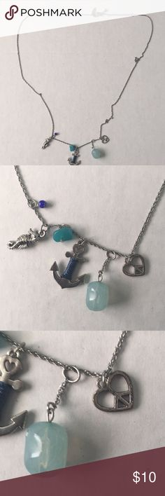 "Aeropostale 17"" long necklace Aeropostale 17"" long necklace. Marine theme charms. Beautiful.   Item loc posh Aeropostale Jewelry Necklaces"