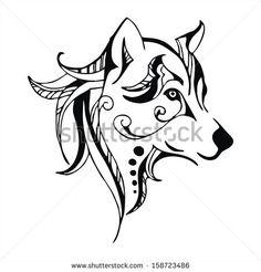 Tribal Husky Tattoo | Ferocious Stock Photos, Illustrations, and Vector Art
