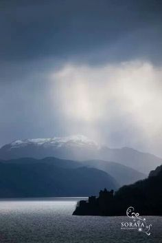 Loch Ness.  I'd love to know what mountain peak we view here in this photo.