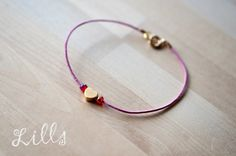14k Simple Heart Pink (proj. Lills), do kupienia w DecoBazaar.com