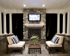 Outdoor porch TV