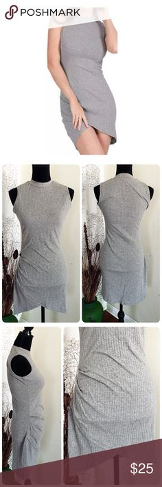 Sleeveless Knitted Casual Dress NWOT Mini sleveless knitted casual dress with O-neck bodycon dress. ❤️Cotton/polyester❤️ it wraps your body silhouette nicely.                                                        For fall ⛄️match it with trendy outerwear and high knee boot. Summer🌻just your sexy heel. Material not so thick, but it's not sheer.                        ❤️M -bust 34, waist 26, front length 30, back length 32  ❤️L- bust 36, waist 28, front length 30.5, back length 32.5❤️…