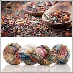 TEA TIME 'RESILIENT' SOCK YARN - expression fiber arts
