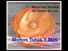 ROSA CON LA TECNICA DEL BOTON DE LATA Paso A Paso ROSE BUD WITH THE BUTT...