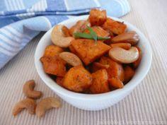 Pečené sladké brambory batáty s kešu oříšky - BAKED SWEET POTATOES WITH CASHEWS, PALEO AND WHOLE30 SIDE DISH
